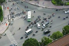 Κυκλοφορία στη πόλη Χο Τσι Μινχ Στοκ Εικόνα