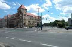 Κυκλοφορία στη σύνδεση στο Πόζναν, Πολωνία Στοκ φωτογραφία με δικαίωμα ελεύθερης χρήσης