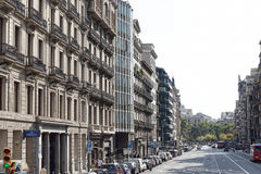 Κυκλοφορία στις οδούς της Βαρκελώνης στοκ φωτογραφίες