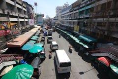 Κυκλοφορία στο δρόμο Wichayanon Κοντά σε Kad Luang Στοκ φωτογραφίες με δικαίωμα ελεύθερης χρήσης