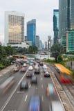 Κυκλοφορία της Τζακάρτα γύρω από Plaza Ινδονησία Στοκ φωτογραφία με δικαίωμα ελεύθερης χρήσης