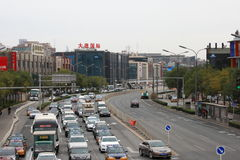 κυκλοφορία του Πεκίνο&ups Στοκ φωτογραφίες με δικαίωμα ελεύθερης χρήσης