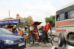 Κυκλοφορία του Jaipur Στοκ εικόνα με δικαίωμα ελεύθερης χρήσης