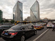 Κυκλοφορία ώρας κυκλοφοριακής αιχμής Στοκ Εικόνες