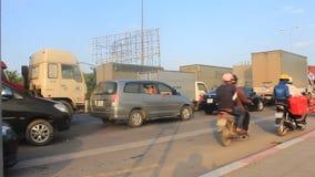 Κυκλοφοριακή συμφόρηση από τα ατυχήματα απόθεμα βίντεο