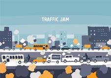 Κυκλοφοριακή συμφόρηση αυτοκινήτων Στοκ φωτογραφία με δικαίωμα ελεύθερης χρήσης