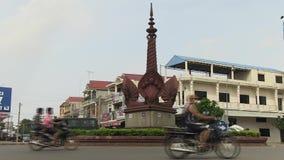 Κυκλοφοριακή συμφόρηση, διασταύρωση κυκλικής κυκλοφορίας, Καμπότζη φιλμ μικρού μήκους
