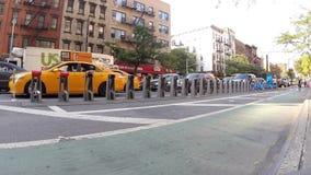Κυκλοφοριακή συμφόρηση σε ένα βίντεο οδών πόλεων της Νέας Υόρκης φιλμ μικρού μήκους