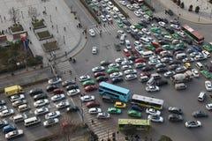 Κυκλοφοριακή συμφόρηση σε ΧΙ, Κίνα στοκ φωτογραφίες