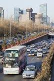 Κυκλοφοριακή συμφόρηση στην τρίτη περιφερειακή οδό, Πεκίνο, Κίνα Στοκ Εικόνα