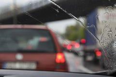 Κυκλοφοριακή συμφόρηση στη βροχή Στοκ φωτογραφίες με δικαίωμα ελεύθερης χρήσης