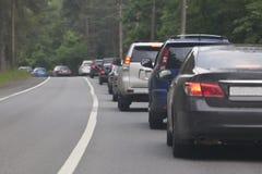Κυκλοφοριακή συμφόρηση στη εθνική οδό στοκ εικόνα με δικαίωμα ελεύθερης χρήσης