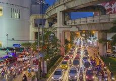 Κυκλοφοριακή συμφόρηση στη Μπανγκόκ Στοκ Φωτογραφίες