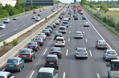 Κυκλοφοριακή συμφόρηση στο γερμανικό αυτοκινητόδρομο Στοκ φωτογραφίες με δικαίωμα ελεύθερης χρήσης