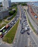 Κυκλοφοριακή συμφόρηση του Μόντρεαλ Στοκ φωτογραφίες με δικαίωμα ελεύθερης χρήσης