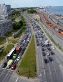 Κυκλοφοριακή συμφόρηση του Μόντρεαλ Στοκ Εικόνα