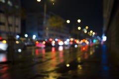 Κυκλοφοριακή συμφόρηση Defocused Στοκ Εικόνα