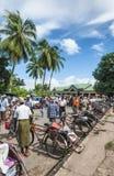 Κυκλο δίτροχος χειράμαξα ταξί ποδηλάτων στο yangon Myanmar Στοκ Εικόνα