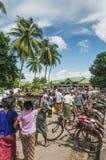 Κυκλο δίτροχος χειράμαξα ταξί ποδηλάτων στο yangon Myanmar Στοκ εικόνες με δικαίωμα ελεύθερης χρήσης