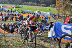 Κυκλο διαγώνια Δημοκρατία της Τσεχίας 2013 UCI Στοκ εικόνα με δικαίωμα ελεύθερης χρήσης