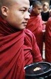 κυλήστε τη μεταφορά του μοναχού του Myanmar Στοκ Φωτογραφία