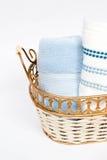 κυλημένες χέρι πετσέτες Στοκ εικόνες με δικαίωμα ελεύθερης χρήσης