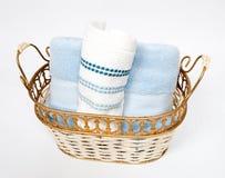 κυλημένες χέρι πετσέτες Στοκ Φωτογραφίες