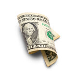 Κυλημένος λογαριασμός ενός δολαρίου στοκ φωτογραφίες με δικαίωμα ελεύθερης χρήσης