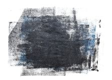 Κυλημένο ακρυλικό χρώμα που απομονώνεται στο άσπρο υπόβαθρο ελεύθερη απεικόνιση δικαιώματος