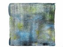 Κυλημένο ακρυλικό χρώμα που απομονώνεται στο άσπρο υπόβαθρο στοκ φωτογραφία με δικαίωμα ελεύθερης χρήσης
