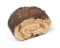 Κυλημένο κέικ που απομονώνεται Στοκ Εικόνες