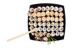 κυλημένο πιάτο susi κυμβάλων Στοκ φωτογραφία με δικαίωμα ελεύθερης χρήσης