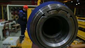 Κυλώντας γραμμή επεξεργασίας μετάλλων στο εργοστάσιο απόθεμα βίντεο