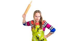 κυλώντας γυναίκα καρφιτσών Στοκ εικόνες με δικαίωμα ελεύθερης χρήσης