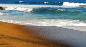 κυλώντας κύματα άμμου Στοκ Φωτογραφίες