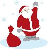 Κυματίζοντας Άγιος Βασίλης Στοκ Εικόνα