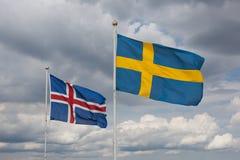 κυματίζοντας αέρας σημαιών στοκ φωτογραφία