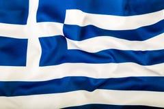 κυματίζοντας αέρας της Ελλάδας σημαιών Στοκ εικόνα με δικαίωμα ελεύθερης χρήσης