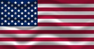 Κυματίζοντας ΑΜΕΡΙΚΑΝΙΚΗ σημαία φυσικό διανυσματικό ύδωρ απεικόνισης σχεδίου φρέσκο σας Στοκ Φωτογραφίες