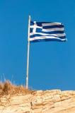 Κυματίζοντας ελληνική σημαία Στοκ εικόνες με δικαίωμα ελεύθερης χρήσης