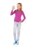 Κυματίζοντας ξανθό κορίτσι Στοκ Εικόνα