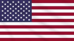 Κυματίζοντας σημαία αμερικανικών σημαιών, ιδανική για το υπόβαθρο απόθεμα βίντεο