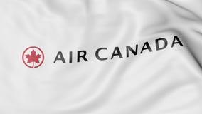 Κυματίζοντας σημαία της εκδοτικής τρισδιάστατης απόδοσης του Air Canada Στοκ φωτογραφία με δικαίωμα ελεύθερης χρήσης
