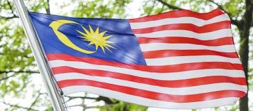 Κυματίζοντας σημαία της Μαλαισίας, Jalur Gemilang Στοκ φωτογραφία με δικαίωμα ελεύθερης χρήσης