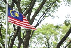 Κυματίζοντας σημαία της Μαλαισίας, Jalur Gemilang Στοκ Φωτογραφίες