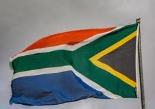Κυματίζοντας σημαία της Νότιας Αφρικής Στοκ Εικόνες