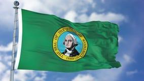 Κυματίζοντας σημαία της Ουάσιγκτον Στοκ Εικόνες