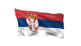 Κυματίζοντας σημαία της Σερβίας ελεύθερη απεικόνιση δικαιώματος