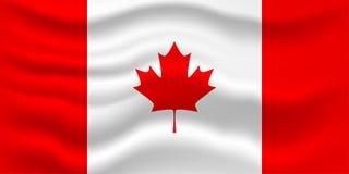 Κυματίζοντας σημαία του Καναδά φυσικό διανυσματικό ύδωρ απεικόνισης σχεδίου φρέσκο σας Στοκ Εικόνα