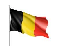 Κυματίζοντας σημαία του κράτους του Βελγίου Στοκ Φωτογραφίες
